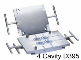 Four cavity ASTM compression set button mold D395 - Click to Enlarge